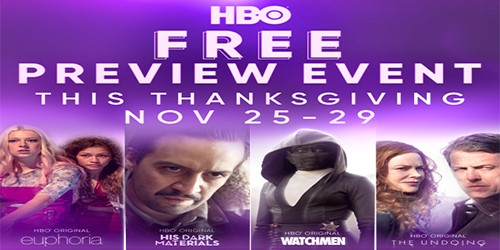 HBO free preview thanksgiving weekend
